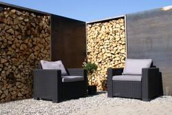 Holz-Metall in der Gartengestaltung