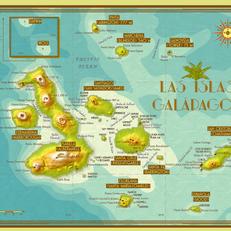 Las Islas Galápagos Map