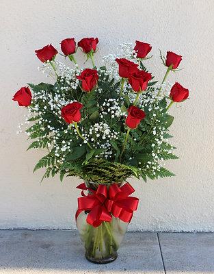 Dozen Roses Arrangement