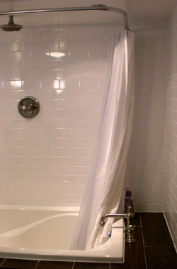 Shower and tub combination