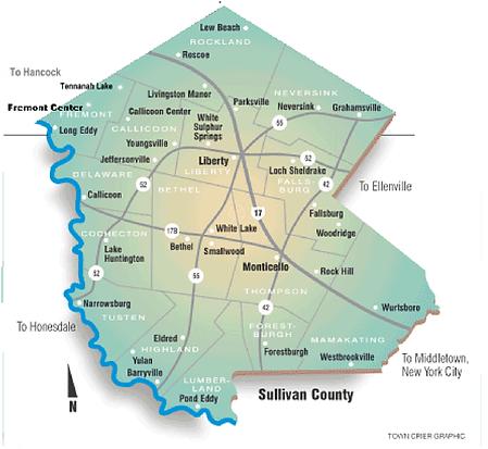 Sullivan County New York Map