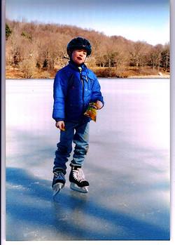 Ice Skating on Lake Jeff