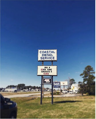 Coastal Diesel Sign