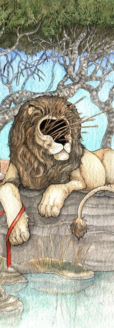 Faceless Lion