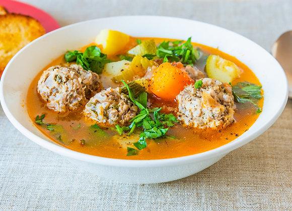 Суп с фрикадельками/ цена дополнительной порции за 1 литр: