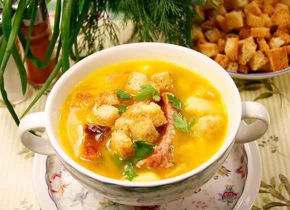 Суп гороховый/ цена дополнительной порции за 1 литр: