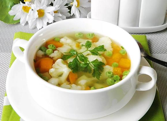 Суп овощной  / цена дополнительной порции за 1 литр: