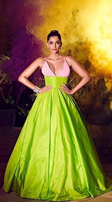 Sonam Kapoor attends HELLO India aAwards in Celia Kritharioti Couture