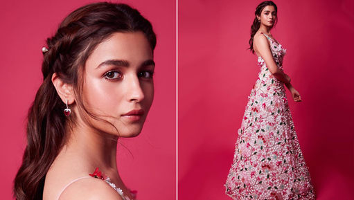 Alia Bhat at Zee Cine Awards 2019 in Celia Kritharioti Couture