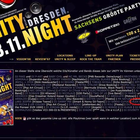 Unity Dresden Night - Café Borowski Dresden