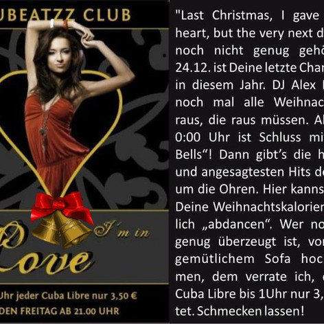 Christmas in Love - Nubeatzz Club Dresden
