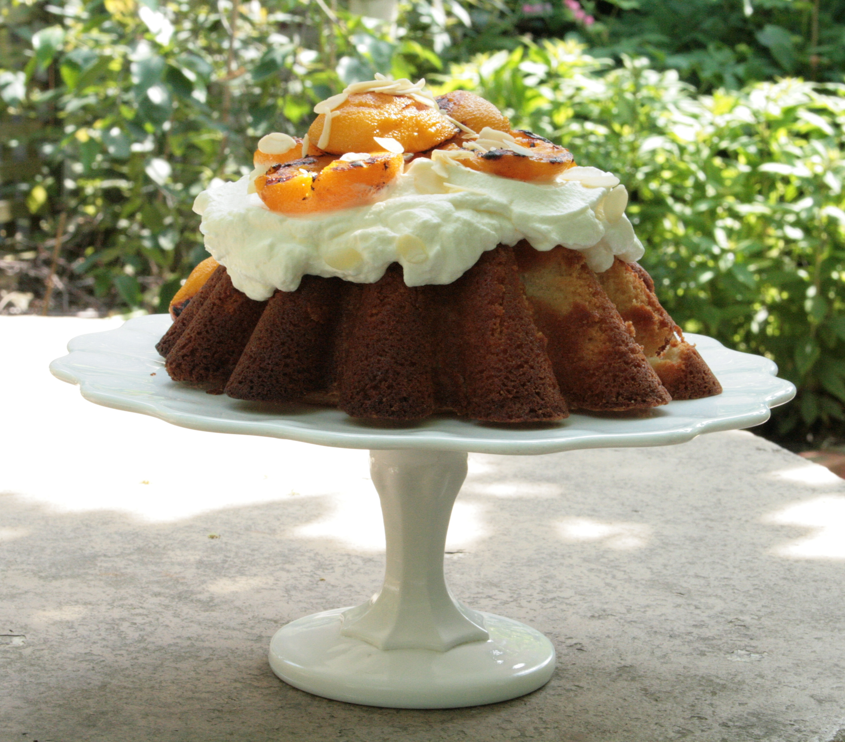 grilled peach cake 035