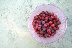service berries in pink bowl 001