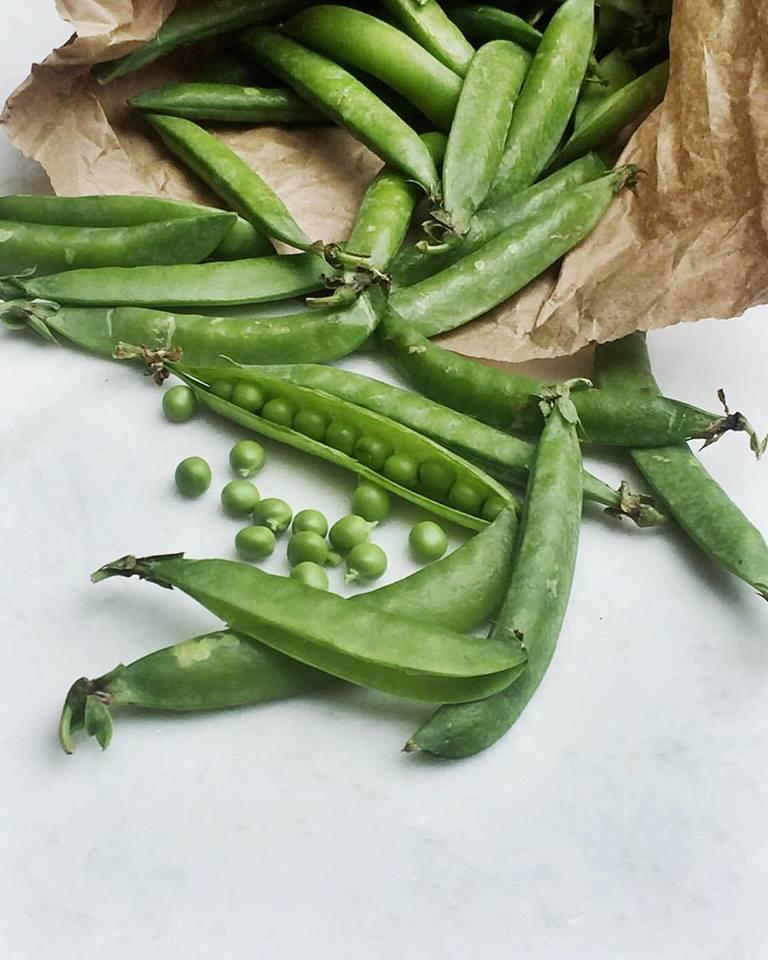 Fresh peas...