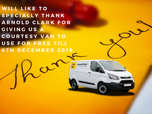 Arnold Clark Gives Connect25 Food bank Courtesy Van