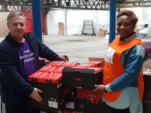 Donations to Czech Slovak Community from KC foundation (Connect 25 Foodbank)