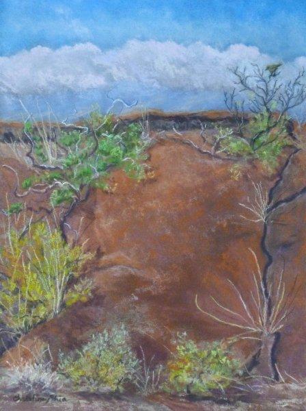Lava Wall, 12x9, $325