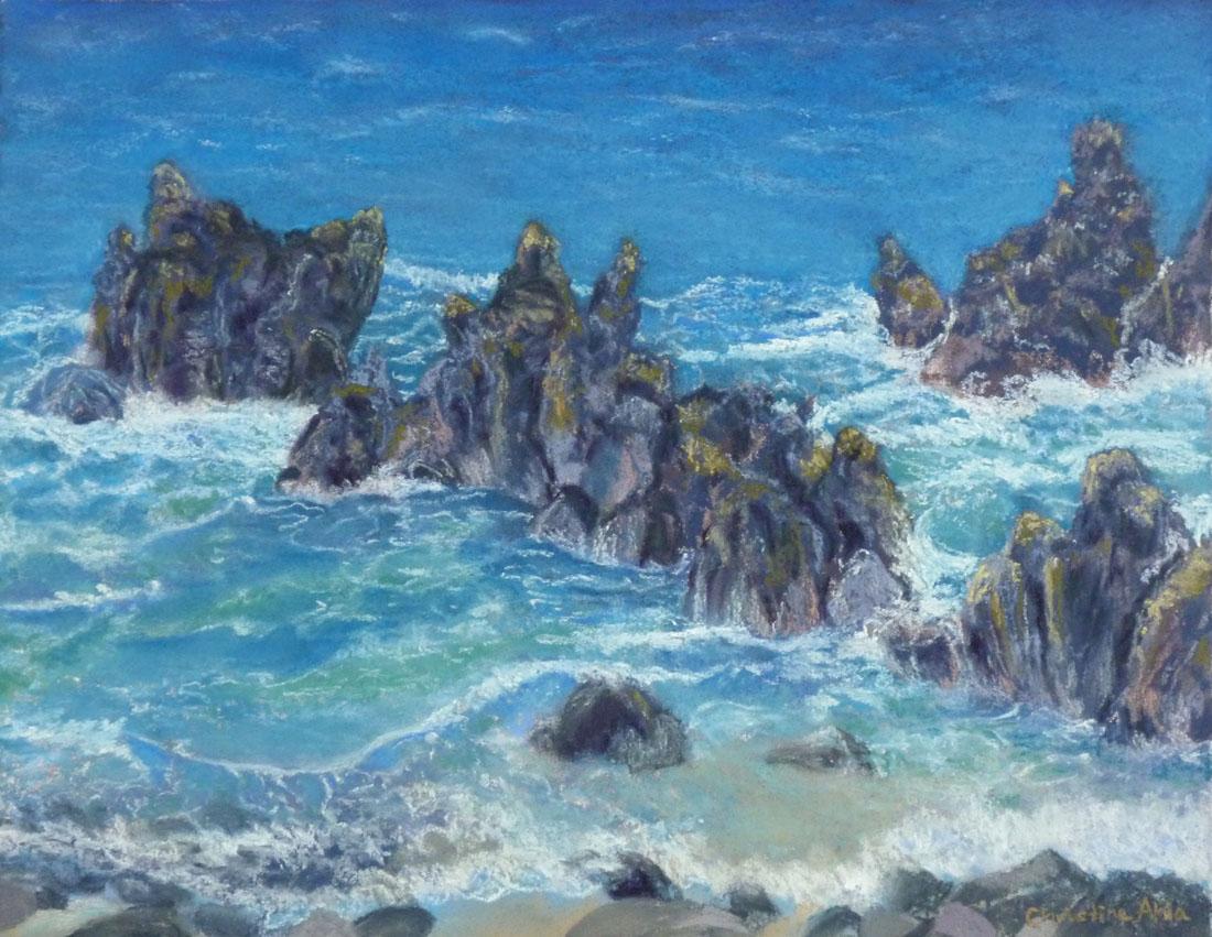 Stories from the Pōhaku, 14x11,$350