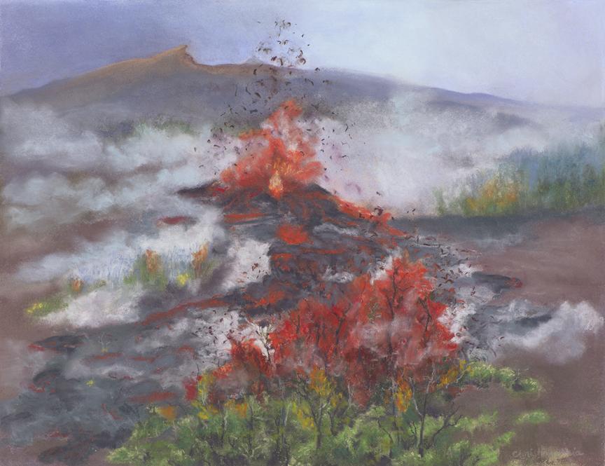 Pele Ai Laʻau,18x14, $450