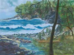 Pepe'ekeo Coast, 12x9, $325