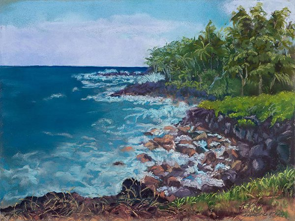 Kalapana Coast, 12x9, $325