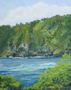 Laupāhoehoe Pali, 11x14, $325