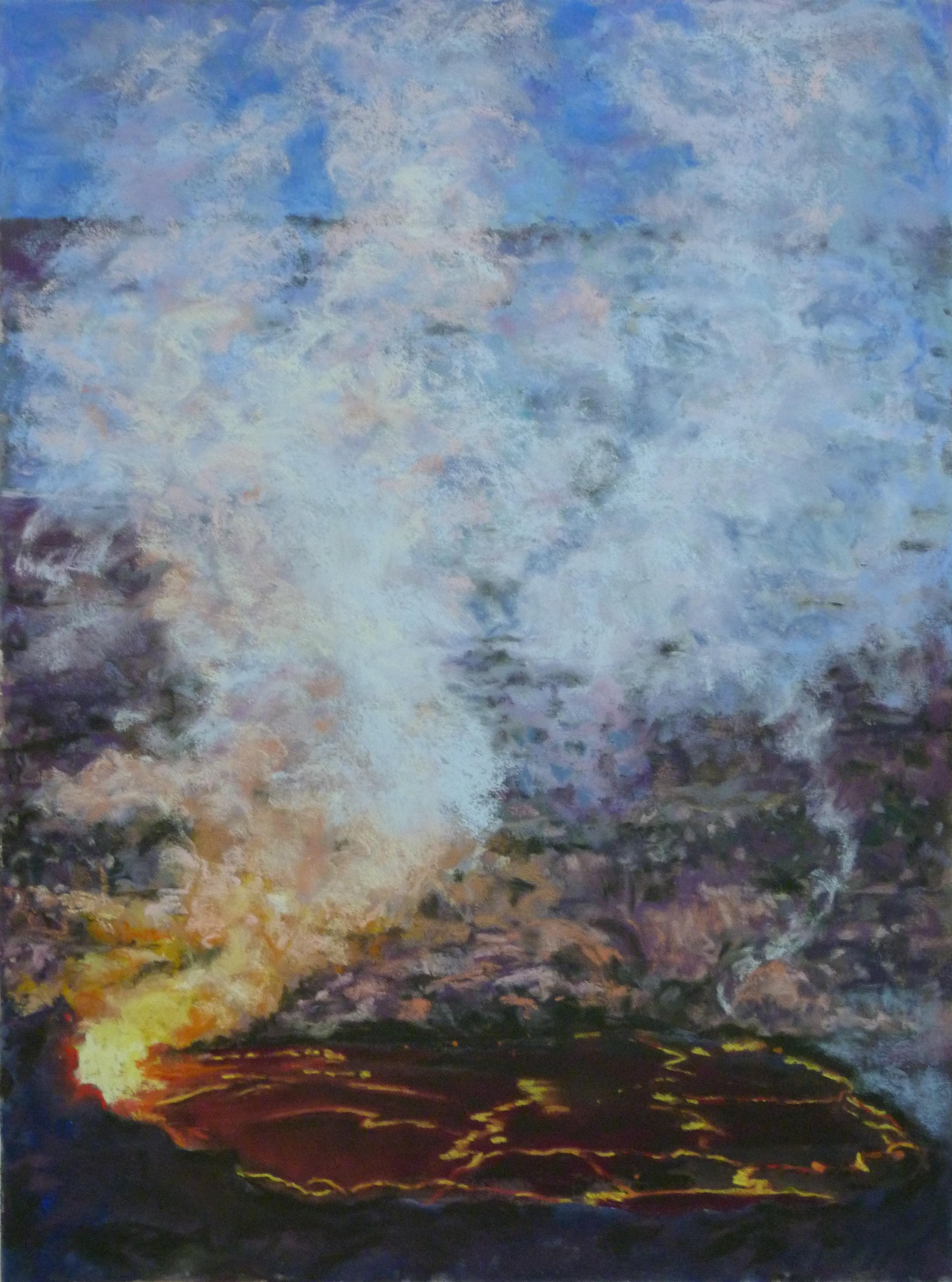 Halemaʻumaʻu at Dusk, 12x16, $450