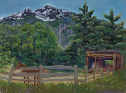 Rolling Pigeon Ranch, 12x9, sold