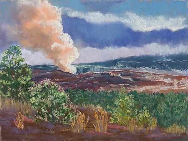 The Plume at Byronʻs Ledge,12x9,$300