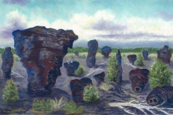 Lava Trees, 14x11, $300