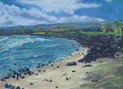 ʻApua Point, 12x9, $325
