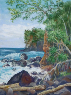 Kolekole Beach, 9x12, $325