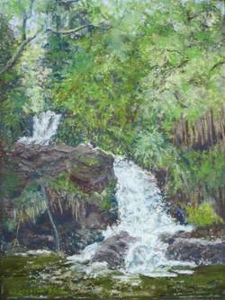 Kolekole Waterfall 9x12, $325