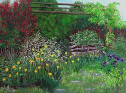 Jen's Garden, 12x9, $325