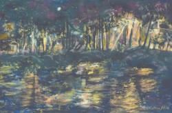 Leleʻiwi Nocturne, 12x9, $300