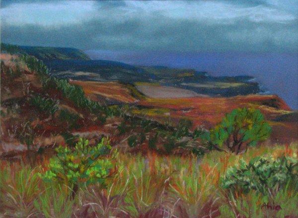 Hilina Pali View, 12x9, sold
