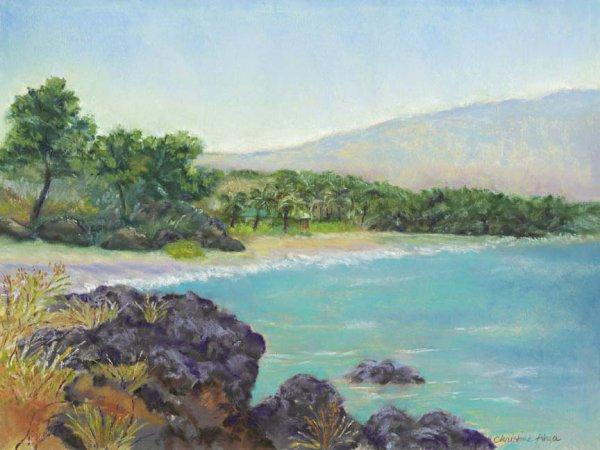 Hapuna Beach, 12x9, $300