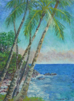 Niu Crossing At Kalapana,12x16, $450