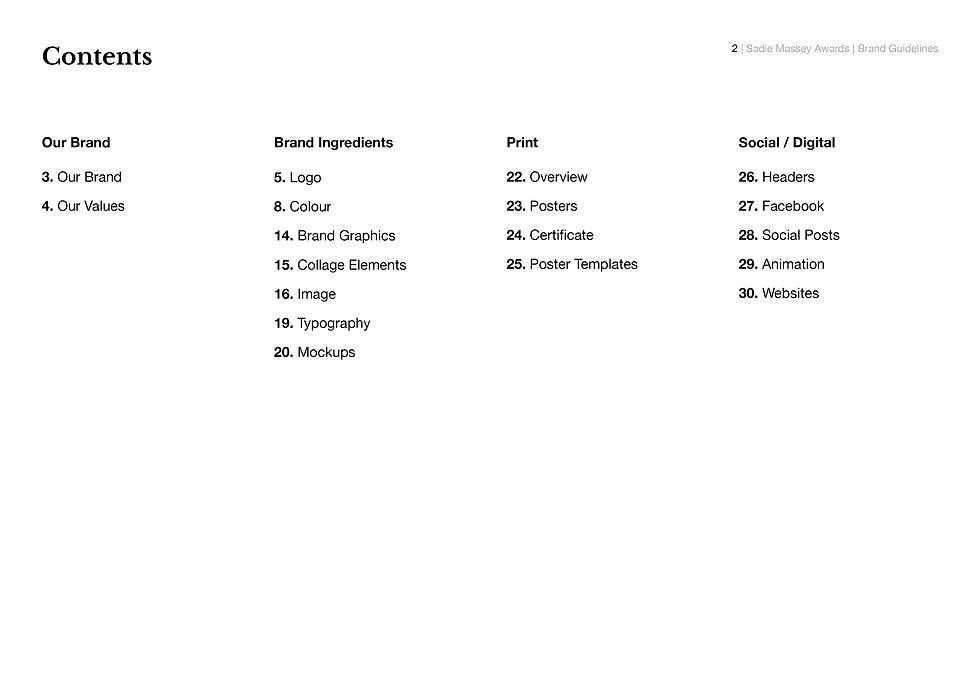 Sadie Massey Awards - Brand Guidelines N