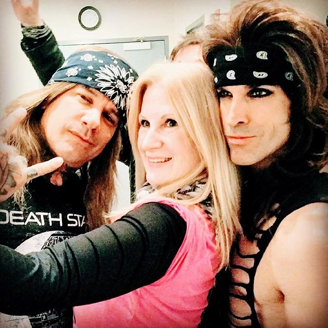 Mary and her boys! Actually the rockers from _steelpantherkicksass #MichaelStarr and #Satchel! Thank you so much for your interview with _jo