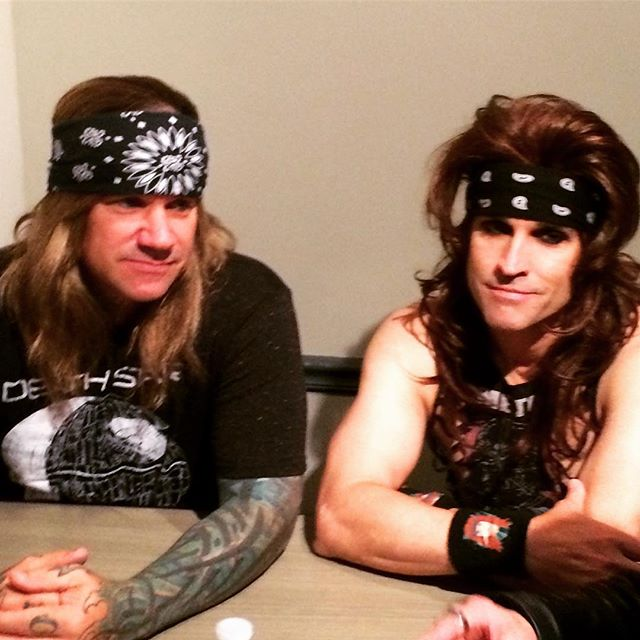 #michaelstarr and #Satchel of _steelpantherkicksass #SteelPanther as they talk to our host _johnny