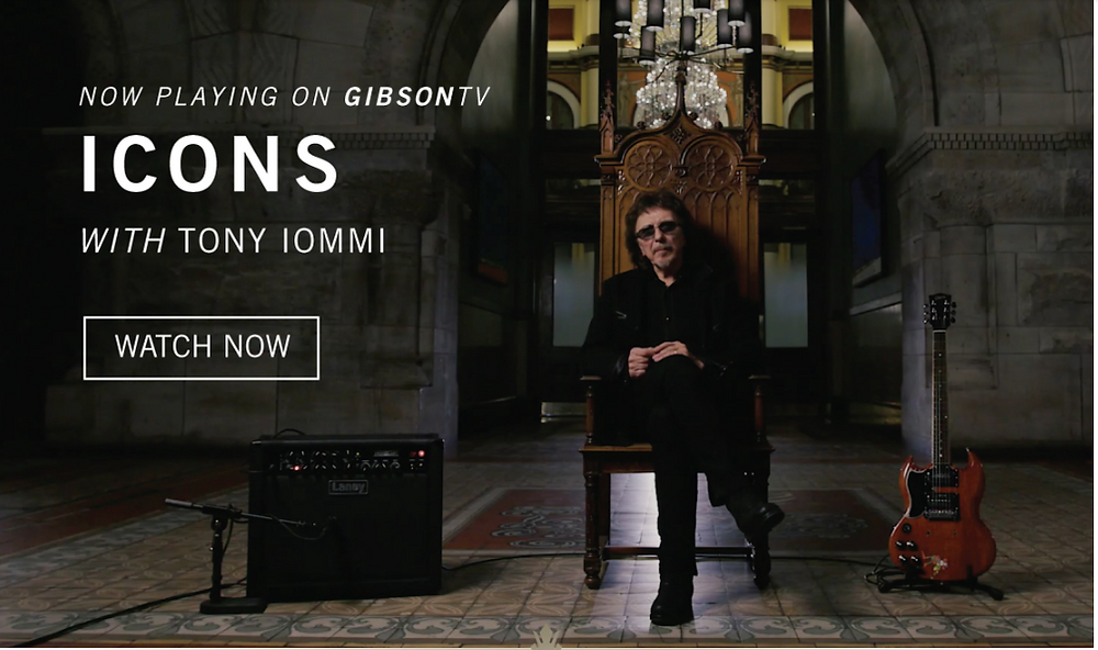 Tony Iomi on Icons, a Gibson TV Series