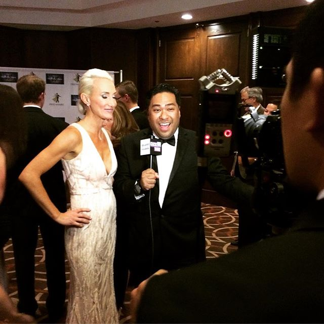 Host _alsotto912 talking with _mama_koons at the #dcsdancingstarsgala at Sheraton in #DC