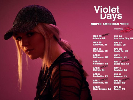 VIOLET DAYS  TO SUPPORT THE MIDNIGHT IN NORTH AMERICAN TOUR