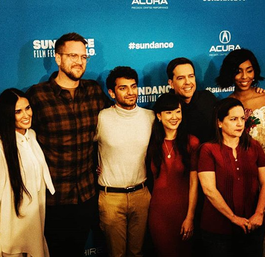 Actress #DemiMoore and cast and crew of