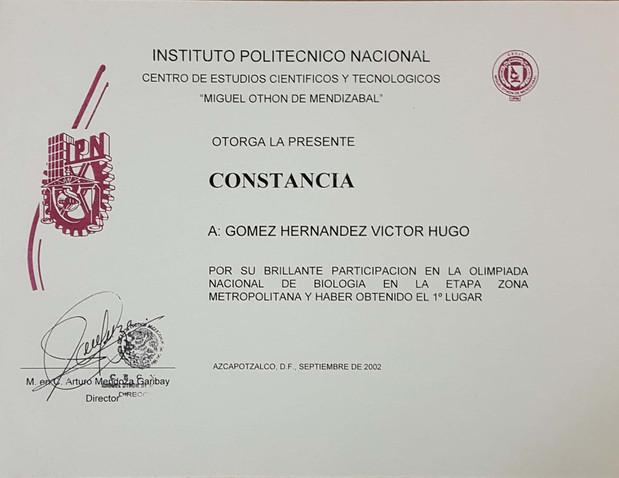 onceava-olimpiada-nacional-de-biologia-primer-lugar-2002-constancia-ingeniero-biotecnologo-victor-hugo-gomez-hernandez.jpg