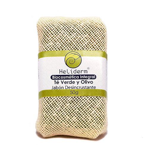 Jabón Desincrustante de Té Verde y Olivo