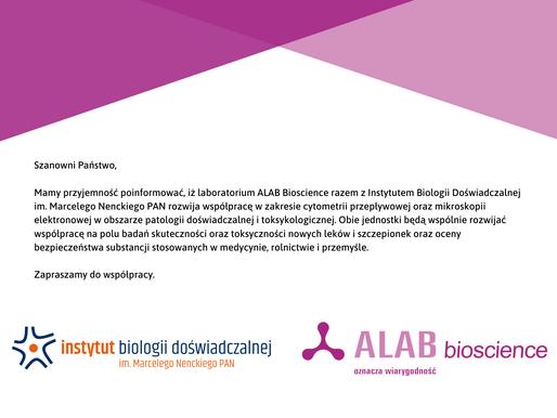 Współpraca między ALAB bioscience i Instytutem Nenckiego.