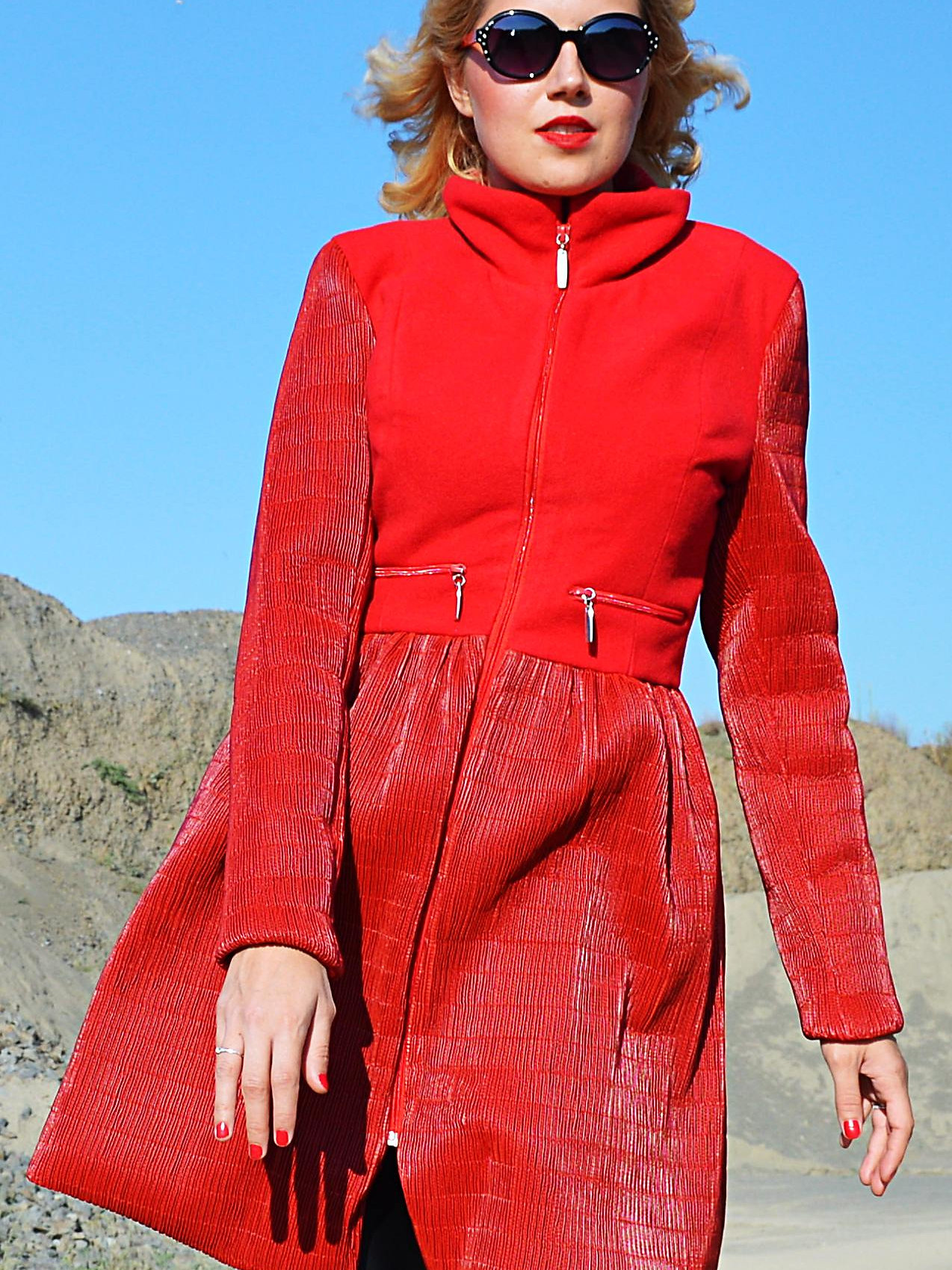 TEYXO | Clothing Store for Women | Winter Red Coat, Extravagant ...