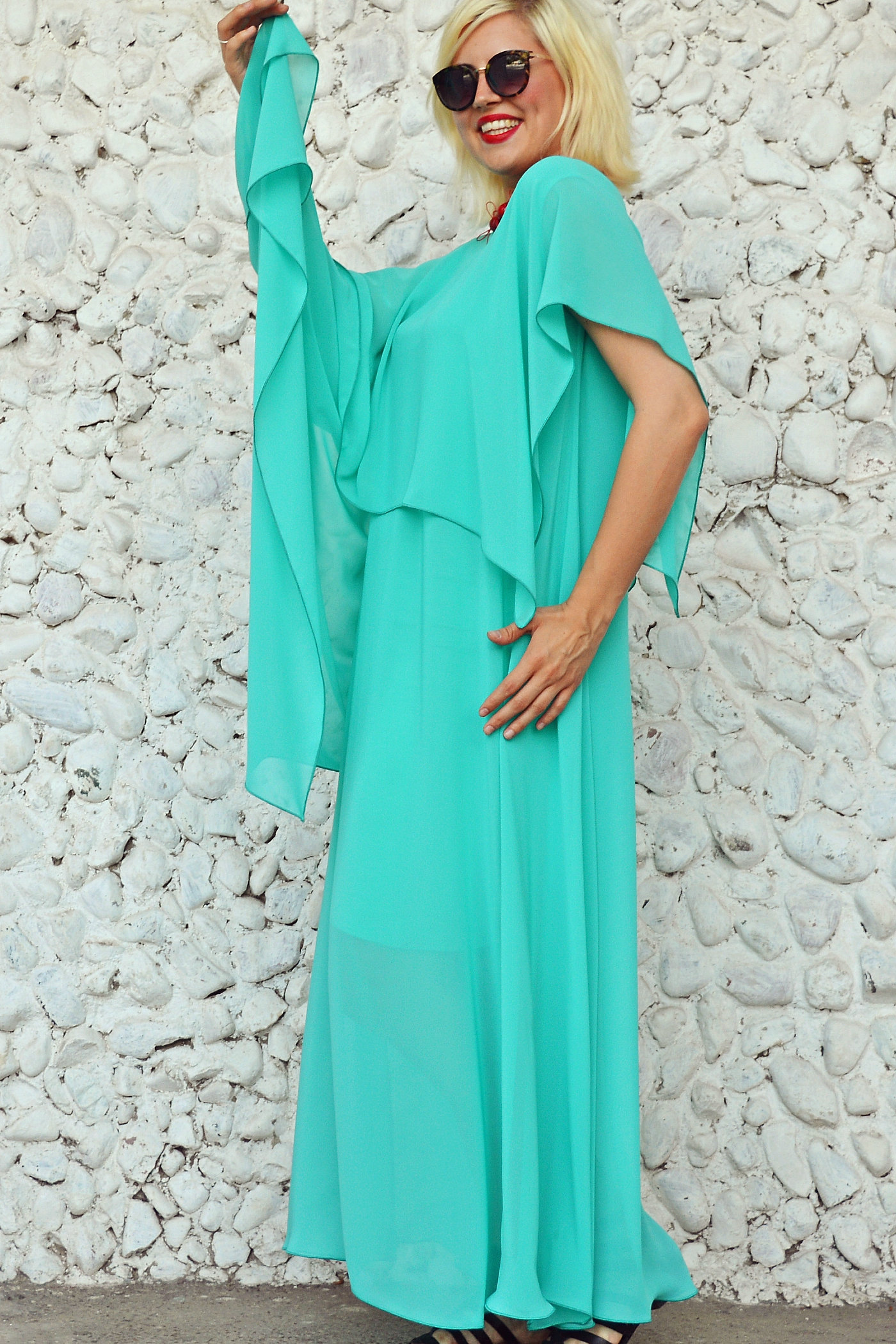 TEYXO | Clothing Store for Women | Turquoise Extravagant Kaftan ...